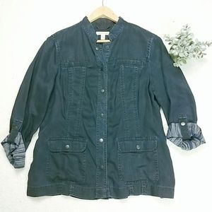 Coldwater Creek Jackets & Coats - 🌷 Coldwater Creek Snap Front Chambray jacket